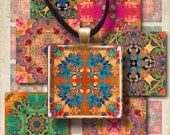 1x1 inch and 1.5x1.5 inch Images MAGNIFICENT ORNATE TILES moroccan style Printable Downloads Digital Collage Sheet for pendants bezels trays