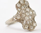 Unique Engagement Rings: Antique Diamonds & 18K Gold, Size 5.75 / 6