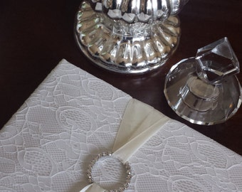 Satin and Bling Wedding Guest Book by Kim Boyce Designs