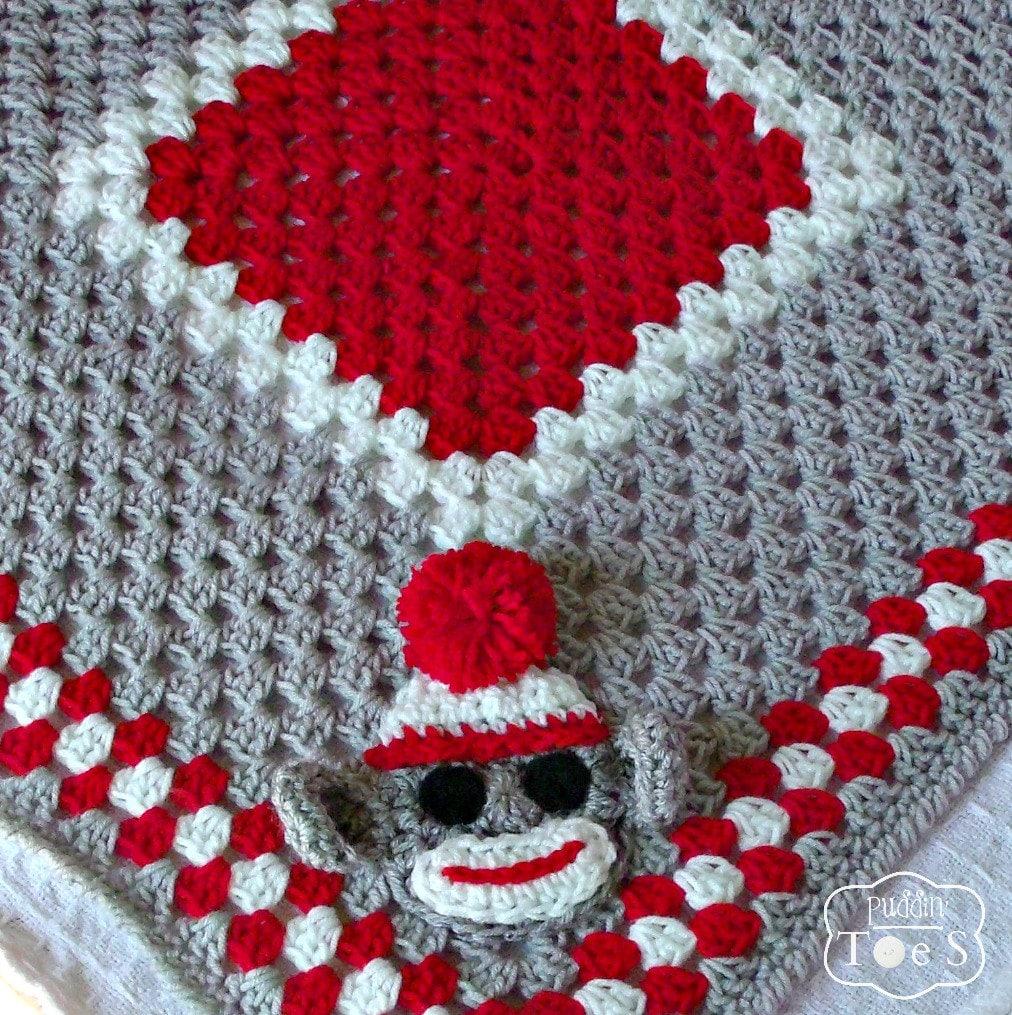 Crochet Baby Blanket Monkey Pattern : Crochet Baby Blanket Sock Monkey Crochet by ...