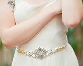Kaley Art Deco Belt with crystals and gold detail