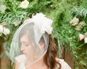 Allison Blusher Veil with petal detail
