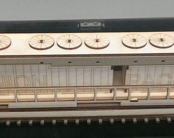 Wooden EMD DDA Locomotive Model Kit