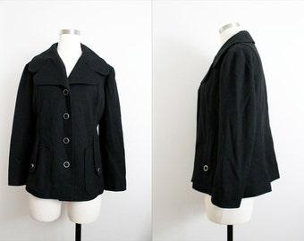 "1970s Black ""Polly Lane"" Jacket"