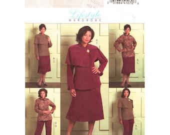 Sewing Pattern Womens Jacket Skirt Pants Pattern Butterick 4878 Unlined Suit Jacket Shawl Collar Womens Plus Size 18 to 24 UNCUT