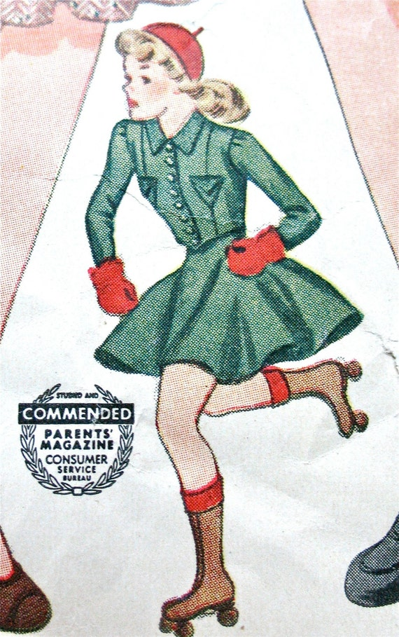 1940s roller skating pattern - Simplicity 3890