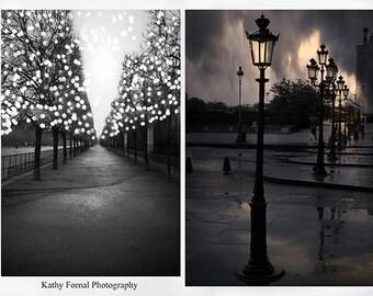 Paris Photography, Sparkling Paris Fairy Lights Art, Paris Black and White Photography, Paris Tuileries, Paris Louvre Street Lanterns Lamps