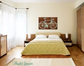 Road Bike Painting on Dark Stained Wood Panels - Large Rustic Wall Art by Right Grain