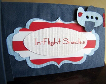 Airplane Party Food Tent Cards, Airplane Party Place Cards, Airplane Food Labels, Airplane Birthday Party, Airplane Table Signs, Set of 10