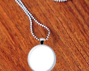 2 Templates - 1 Inch Round Glass Pendants on Ball Chain and Charm