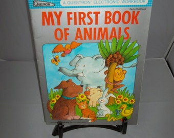 Vintage Questron My First Book of Animals Electronic Workbook 1984
