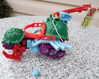 Vintage 1990 Playmates TMNT Sludgemobile Snowmobile Vehicle Teenage Mutant Ninja Turtles