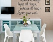 Love Bears All Things Quote Love Quote Vinyl Wall Decal