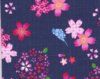 Cherry Blossom Material - 100% Cotton - 30cm x 50cm (11.8 x 19.7 inches) - Reference 6-7