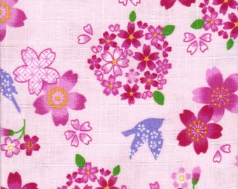 Cherry Blossom Material - 100% Cotton - 30cm x 50cm (11.8 x 19.7 inches) - Reference 19