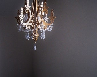 "13"" Royals Hollywood Glam Golden Unlit Chandelier Decoration MADE TO ORDER"