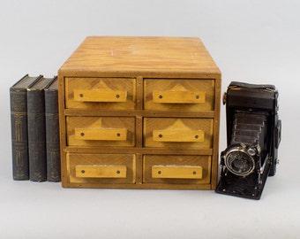 Vintage Handmade Wooden Cabinet