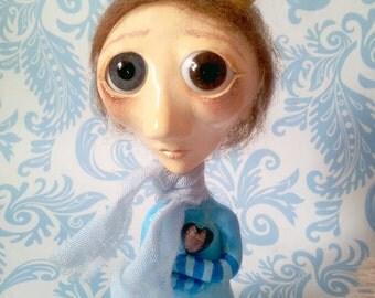 The Little Prince - Ooak creepy cute boy art doll