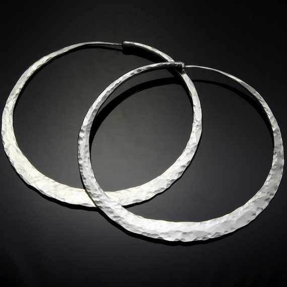 3 inch silver hoop earrings hoop by