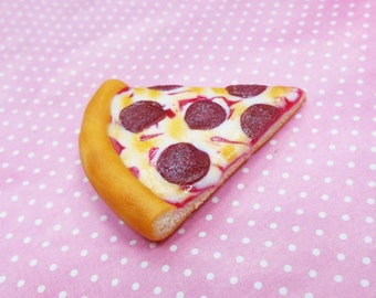 Polymer Clay Pepperoni Pizza