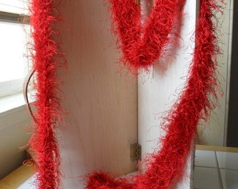 Red Feathers Infinity Diva Scarf