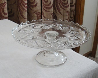 Antique Vintage Pedestal Cake Stand - Pedestal Cake Plate