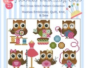 Hooties Stitching Club Owls  Mini Collection Cross Stitch PDF Chart