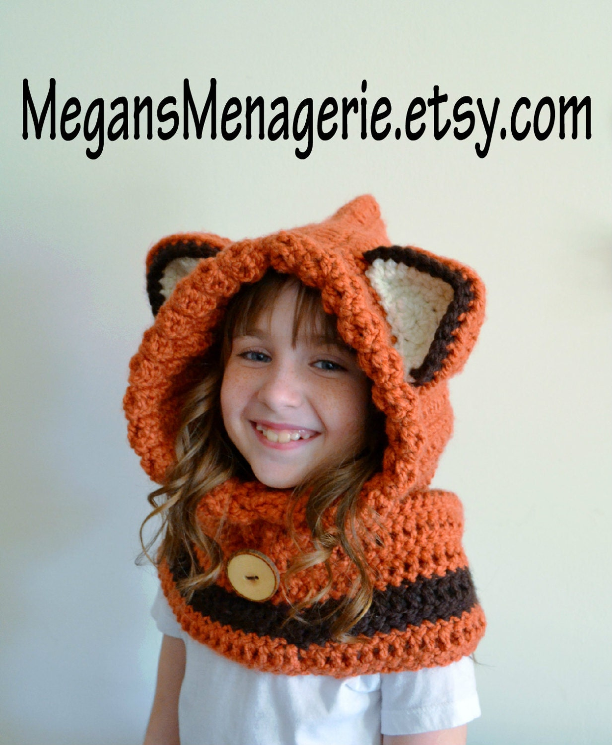 Free Crochet Animal Hat Patterns For Adults : Fox Hat Fox Hoodie Fox Cowl Animal Hat Hooded Scarf