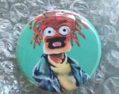 Muppets Inspired Pepe the King Prawn Fan Art Pop Art 1 1/2 inch pin button Shrimp