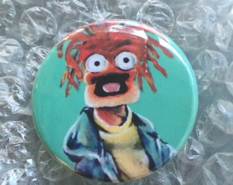 Muppets Inspired Pepe the King Prawn Fan Art Pop Art 1 1/2 inch pin button Shrimp