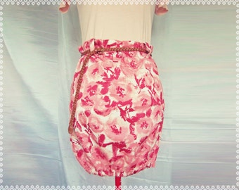 Paint Me Pretty Paperbag Skirt - Unique Skirt, OOAK Skirt in Size Small