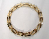 Signed Necklace 60s Modernist Square Link MARINO Choker 1960s Costume Jewelry