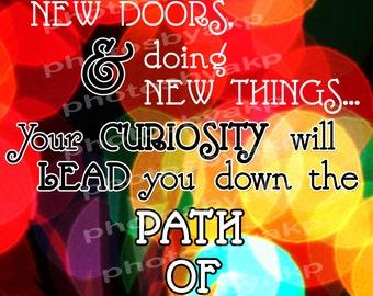 "Keep Moving Forward Walt Disney Quote Digital Instant Download 8.5"" x 11"" PDF"