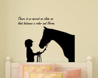Horse Decal Wall Quote Sticker Wall Words Horse And Rider Girls Room Decal  Teen Girl Bedroom