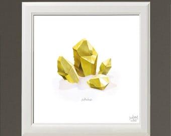 Citrine Crystal Print by Lindsay Nohl
