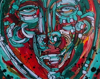 Abstract Painting Original art Abstract acrylic painting on canvas by Julie Steiner