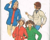Zippered Jacket or Pullover Jacket Pattern for Girls, Hooded Jacket Vintage Pattern Sylte 2058 Size 7 Uncut Vintage Sewing Pattern