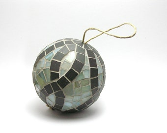 Mosaic Handmade Ornament Ball - Home decor | Christmas Tree Decoration | Unique Artistic Mosaic Ball | Holiday Gift Idea | Holiday Decor