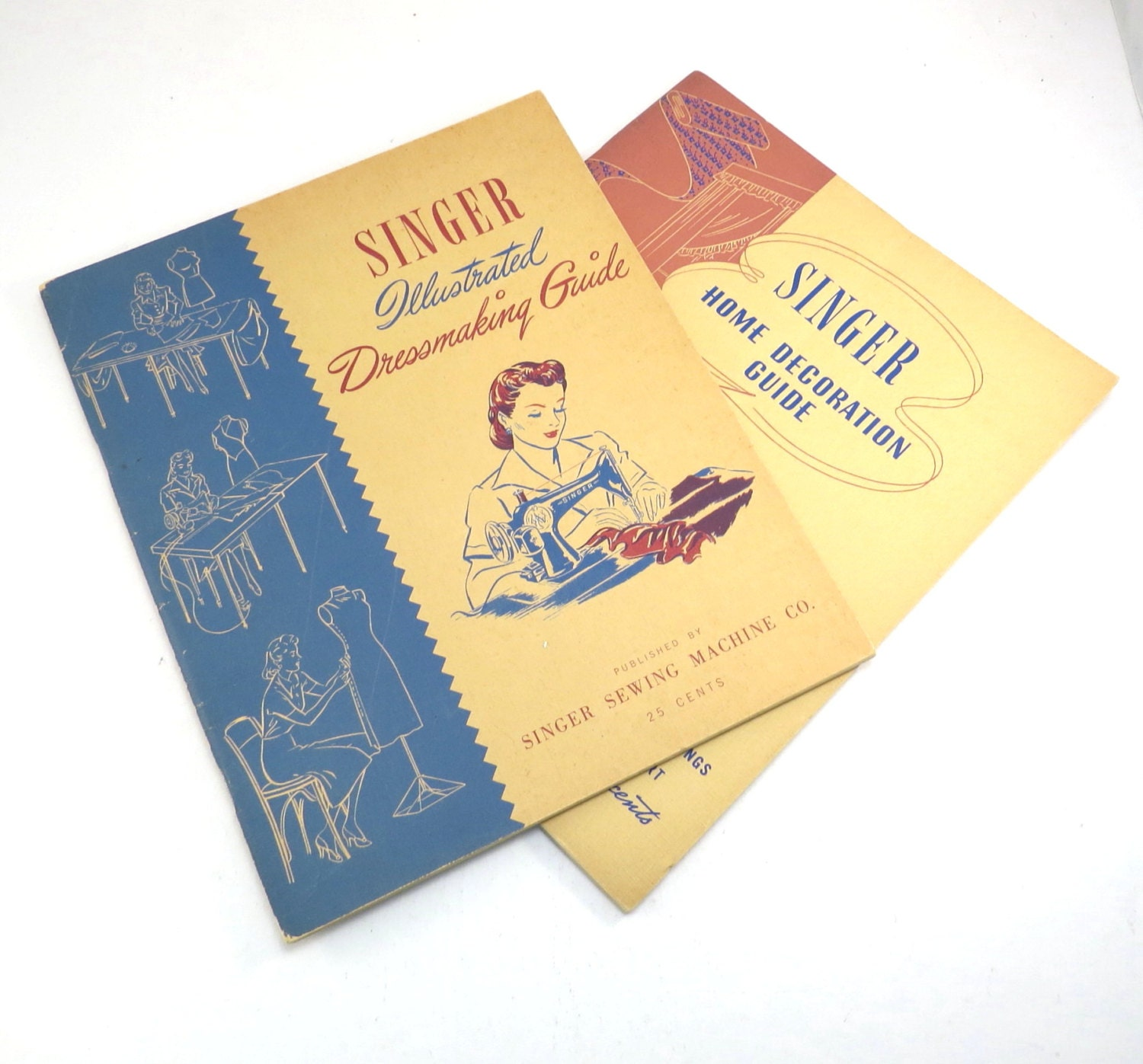 Book Cover Sewing Guide : Singer sewing machine guide books vintage s home