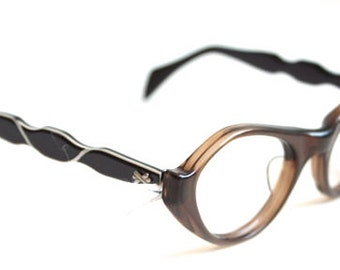 1950s Cateye Eyeglasses // 50s Vintage Frames  // New Old Stock - Deadstock - NOS // USA // Romco
