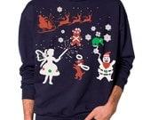 Ugly Christmas sweater -- Elf Fairy Gingerbread man -- pullover sweatshirt -- s m l xl xxl xxxl skip n whistle