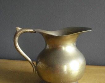 Champion Vessel III - Small Vintage Brass Water Pitcher