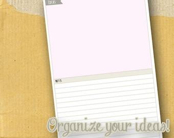 Idea Brainstorming / Planner Page/ Form / DIY / Printable / 8.5 x 5.5