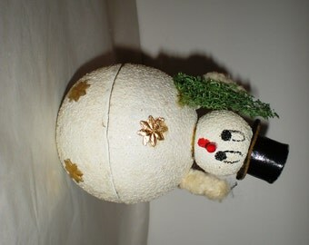 Vintage US Zone Germany Snowman Candy Container