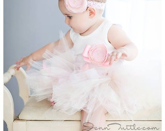 Sweet Champagne Pink Birthday Tutu Dress