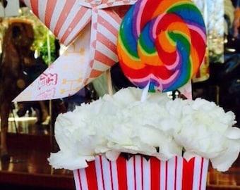 DIY Carnival Birthday Pinwheel Kit by Rule42
