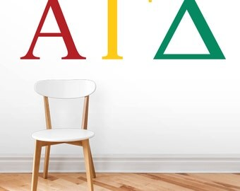 Greek Letters - Personalized Custom Wall Decals
