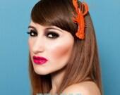 Quirky Fascinator Salvador- Lobster Hairclip Tiki Hawaiian Summer Hair Accessory