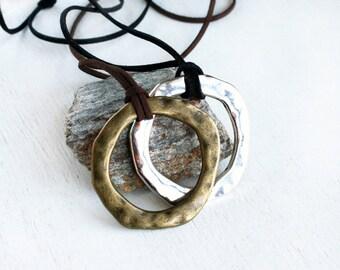 Big Karma Circle Necklace
