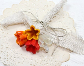 Rustic boutonniere, Lapel pin, Rustic buttonhole